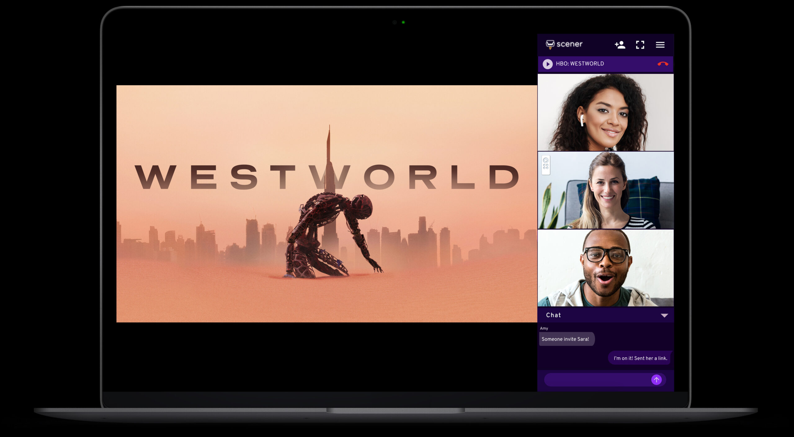 SCENER - watch movies together online
