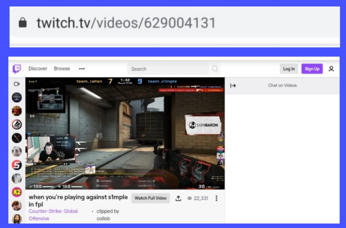 Copy Video URL - Download Twitch Clips