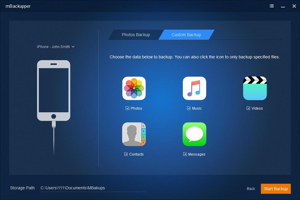 mBackupper  - Way to backup iPhone
