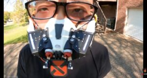 Meet Robotic Face Mask That Opens and Closes Automatically When People Around