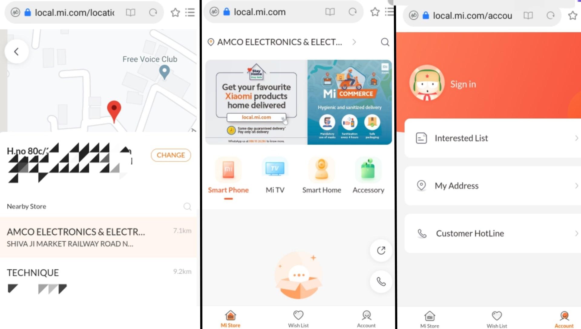 MI Commerce Web App