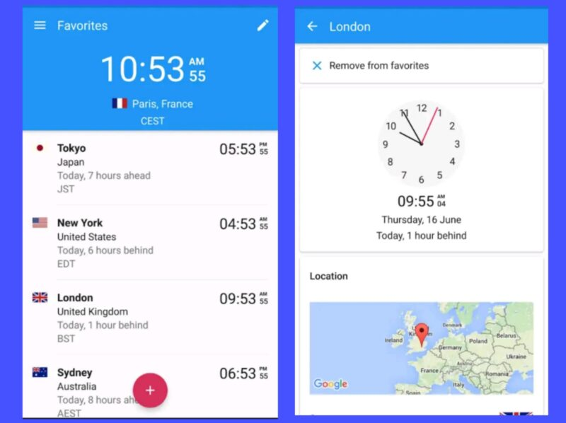 Best Alarm Clock Apps - World Clock