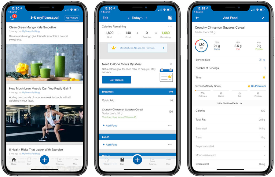 MYFITNESSPAL - calorie counting app