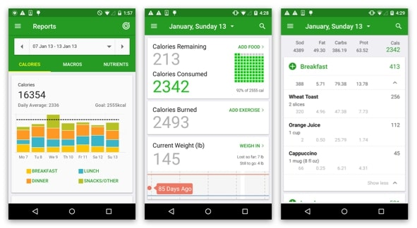 fatscreet - calorie counting app