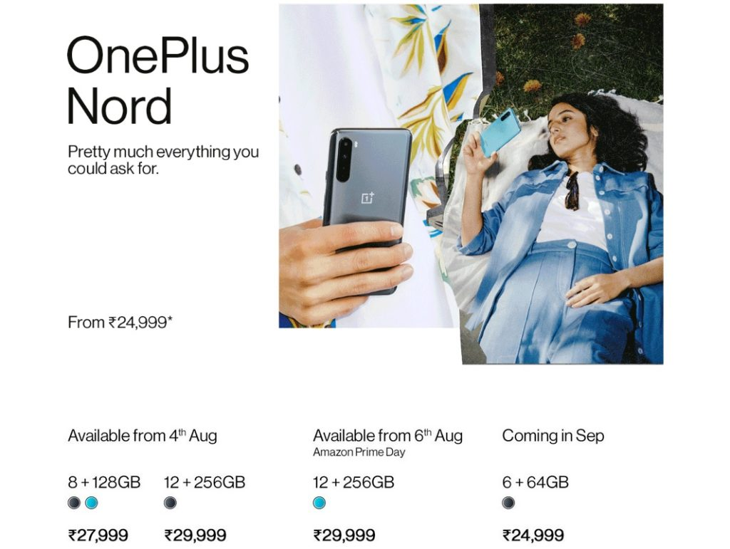 OnePlus Nord Pricing