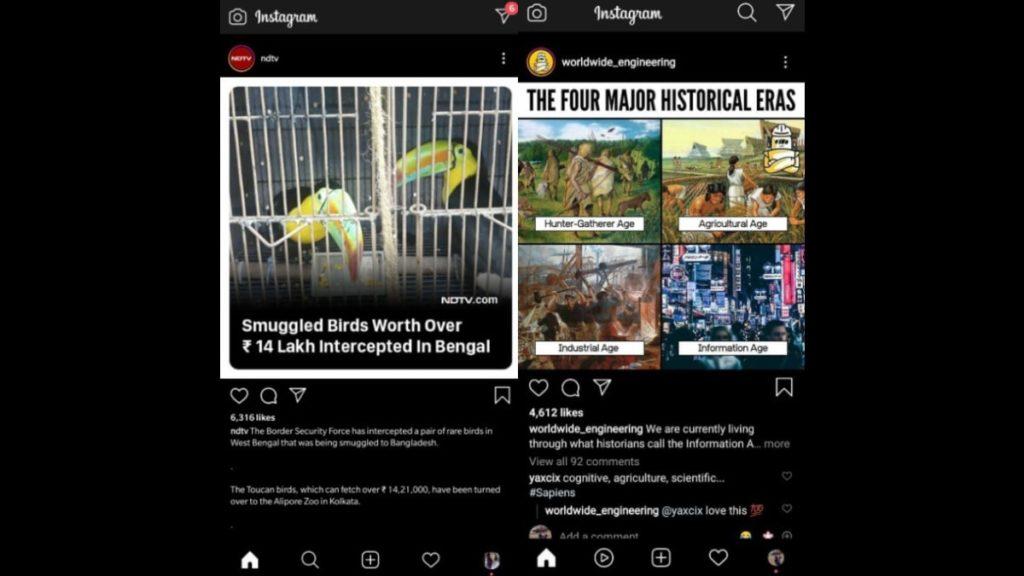 Instagram Reels Shortcut UI change button