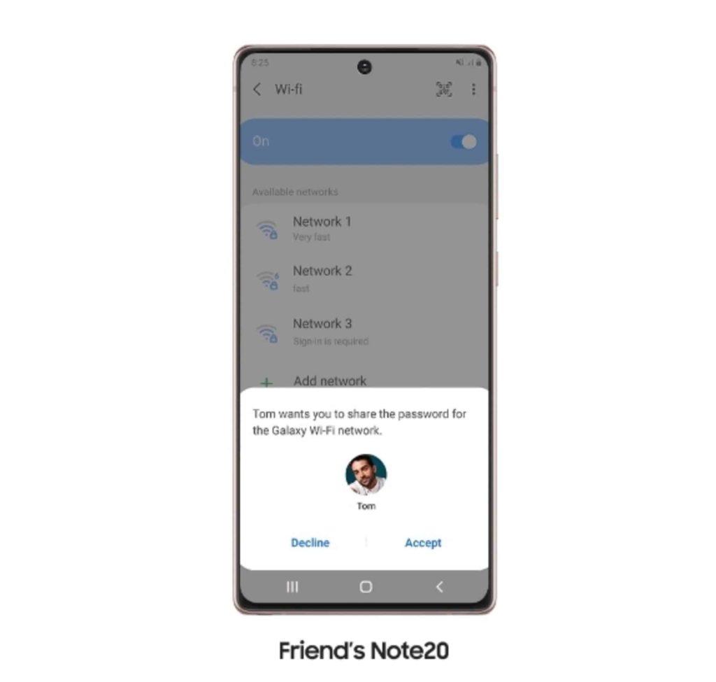 Note20 Series Wi-Fi Request Feature