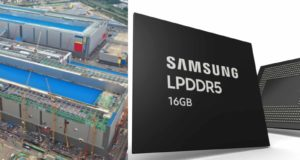 Samsung Begins Mass Production of 16Gb LPDDR5 DRAM Using Extreme Ultraviolet Technology