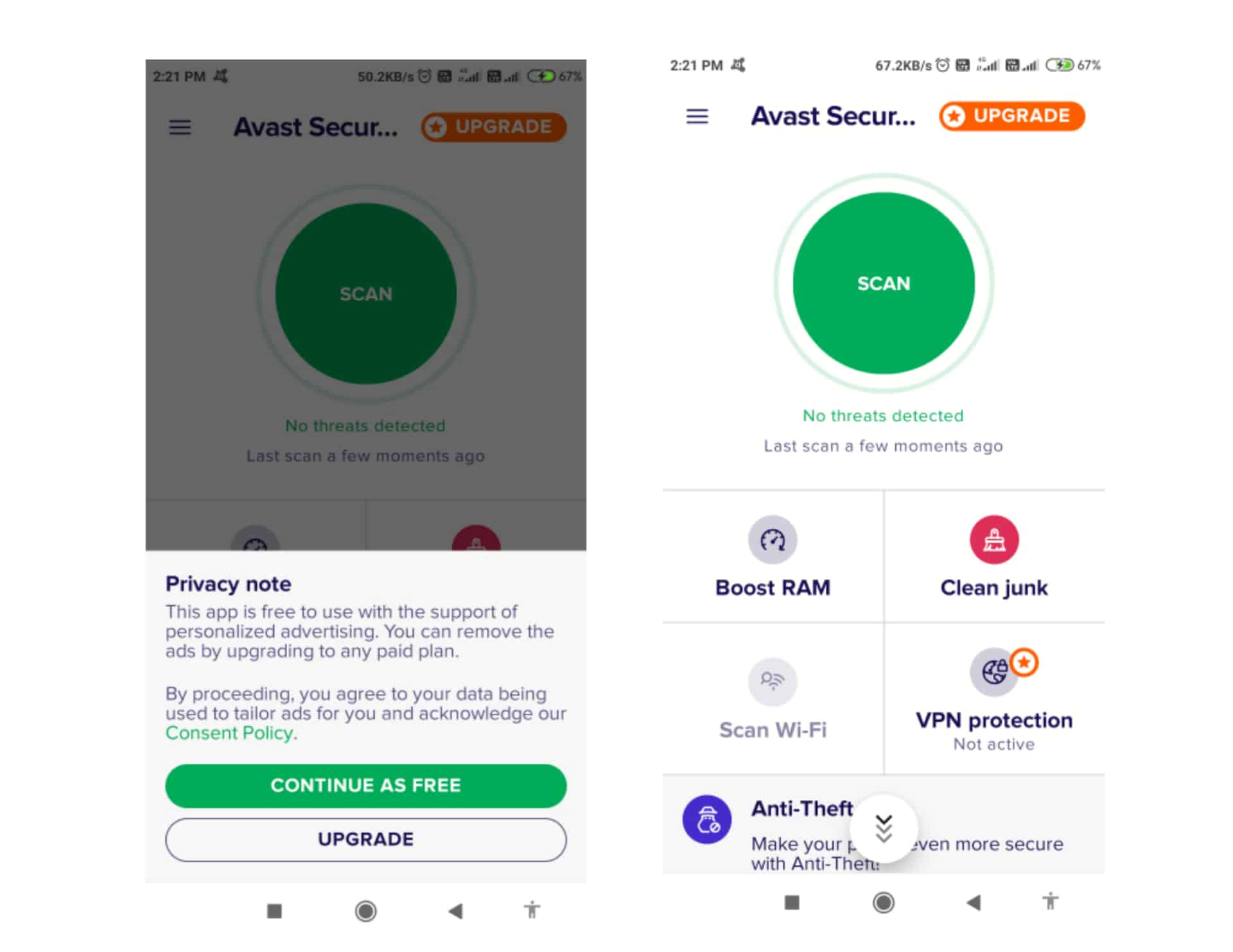 Remove Malware amd Virus in Android Using Avast