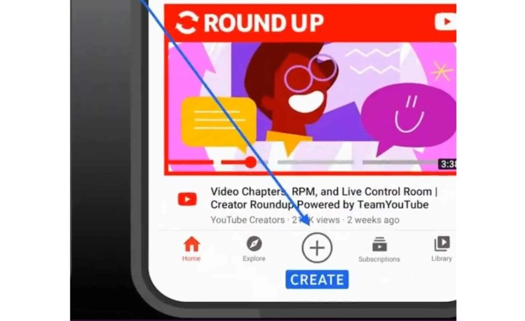 YouTube Adds a Create Button in Bottom Navigation Bar on Android App