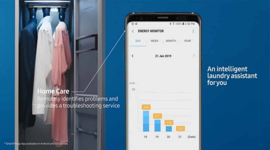 Samsung's Innovative AirDresser Reimagines and Delivers Clothing Care Like Never Before