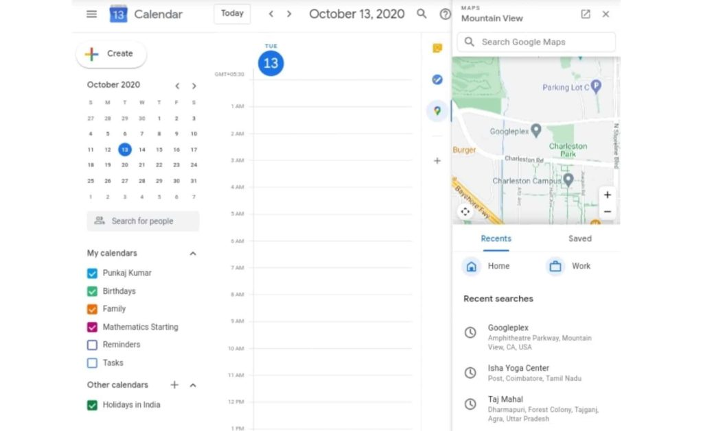 Google Calendar Side Panel Gets Google Maps Add-on For Quick Access