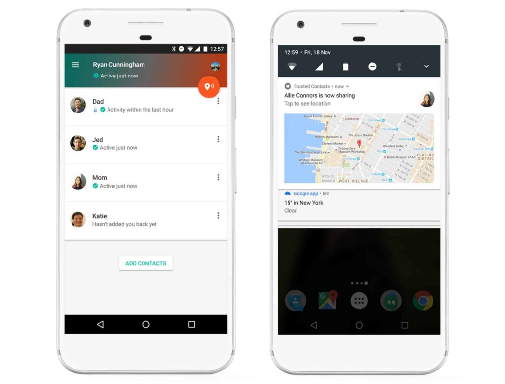 Google Discontinues Trusted Contacts, Removes the App from Playstore and App Store
