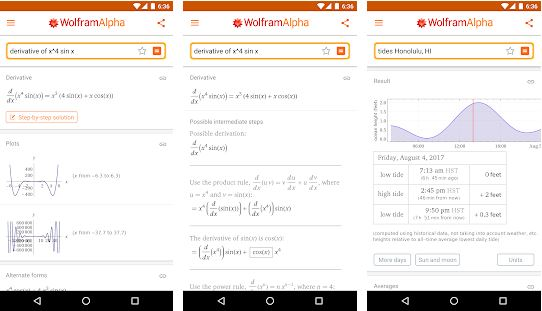 WolframAlpha - Paid Android Apps