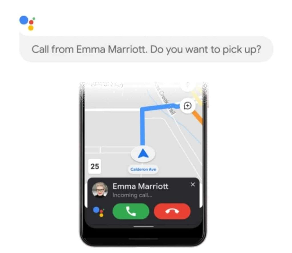 Assistant Driving Mode Accepts Calls With Voice
