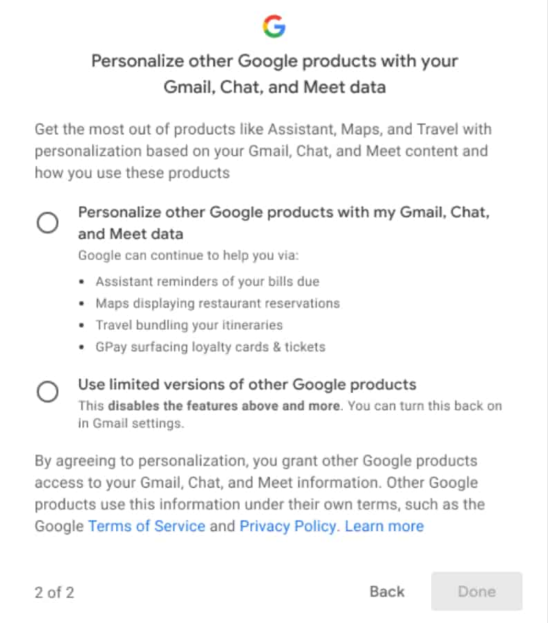 Google Brings New Setting for Smart Features and Personalisation in Gmail