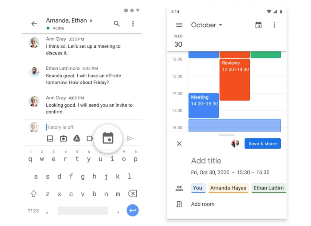 Google Chat Adds Shortcut for Calendar to Schedule Events From Within The Chat
