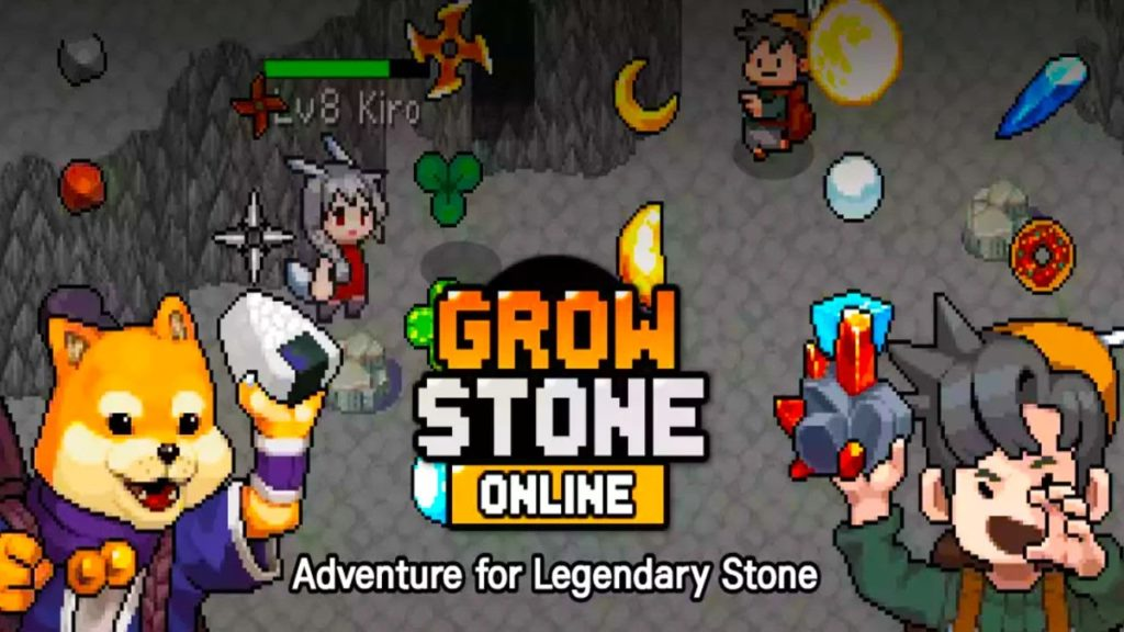 Grow Stone Online: 2d pixel RPG, MMORPG game