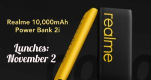 Realme Launches New 10,000mAh Power Bank 2i on November 2, To Go on Sale From November 6