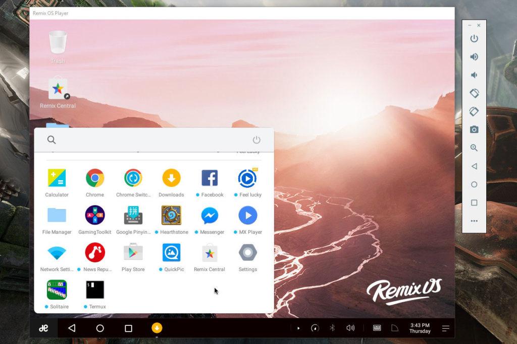 Remix OS Player Emulator - best android emulators