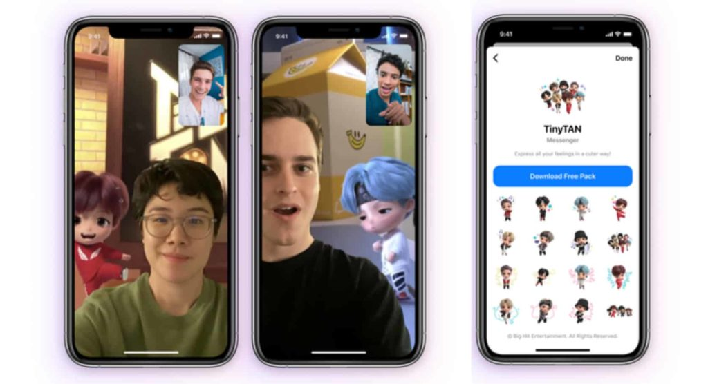 Facebook Launches New TinyTAN Chat Feature for Messenger and Instagram