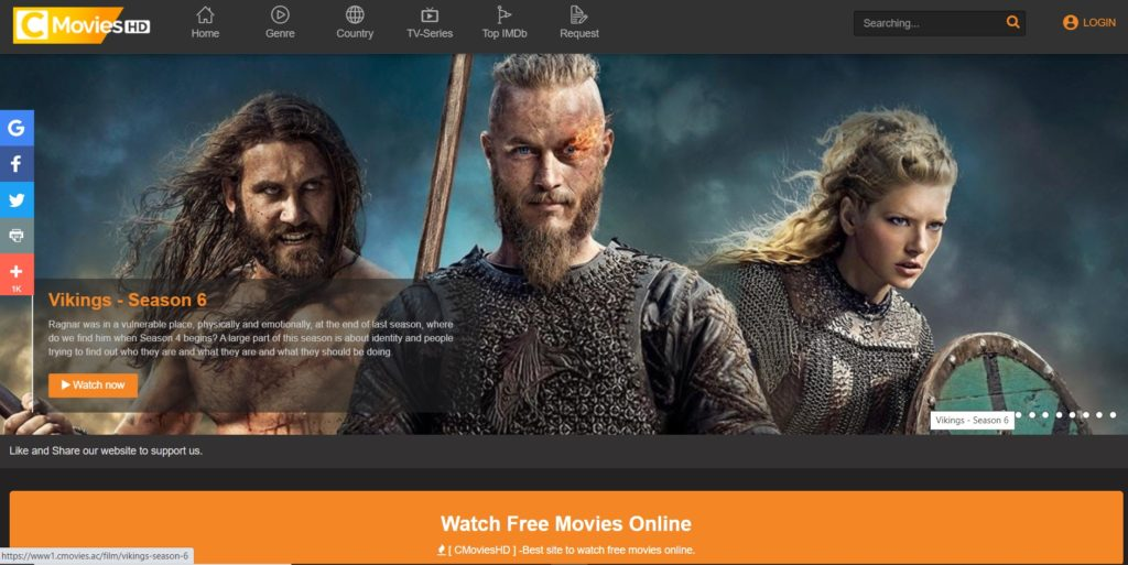 CMoviesHD - Free Movie Streaming Sites with No Sign-Up