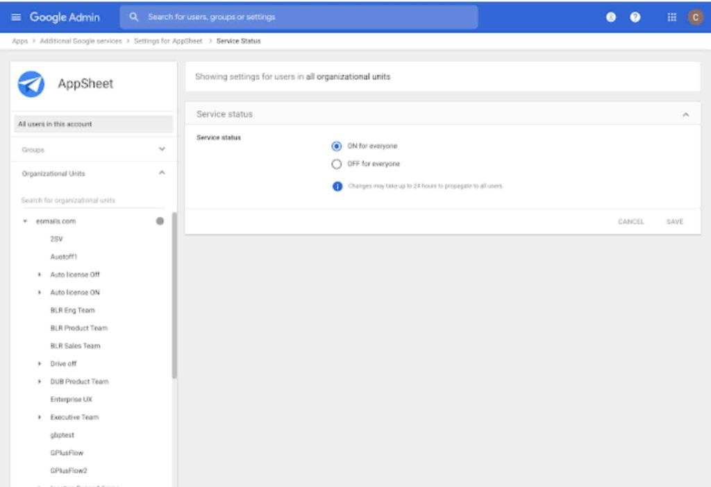 Google Brings New Admin Console Setting to Control User Access to AppSheet