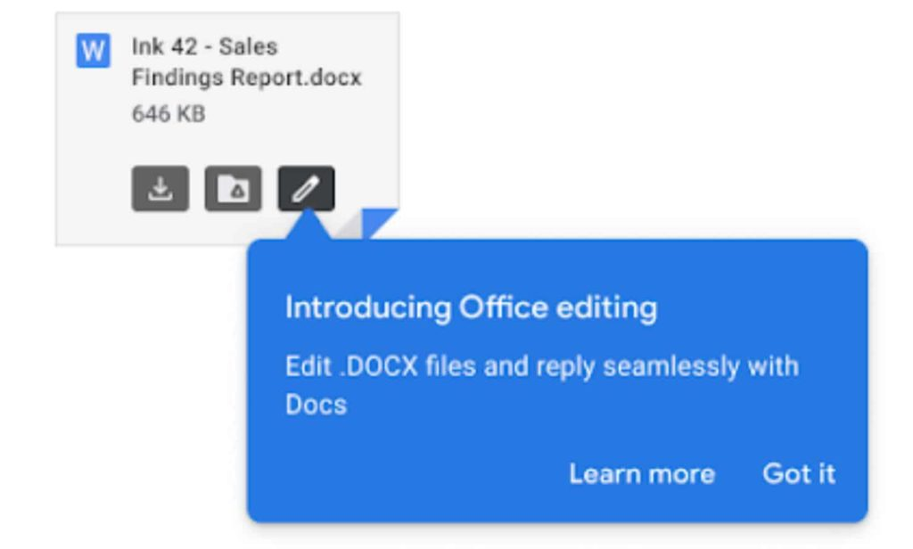 Google Will Now Let Users Edit Office Documents Directly From Email Attachments