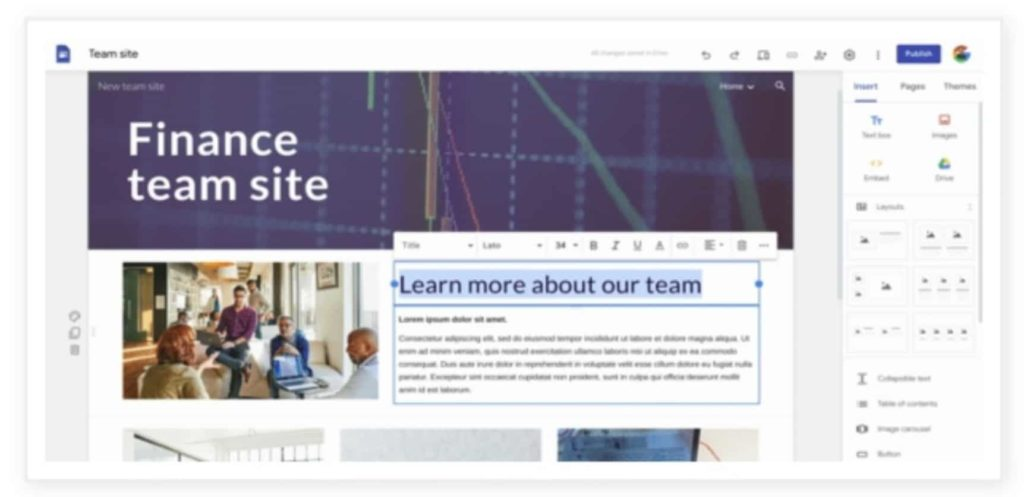 Google Now Allows Users Customize Text Style and Appearance in Google Sites