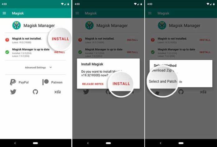Install Magisk Manager app 1