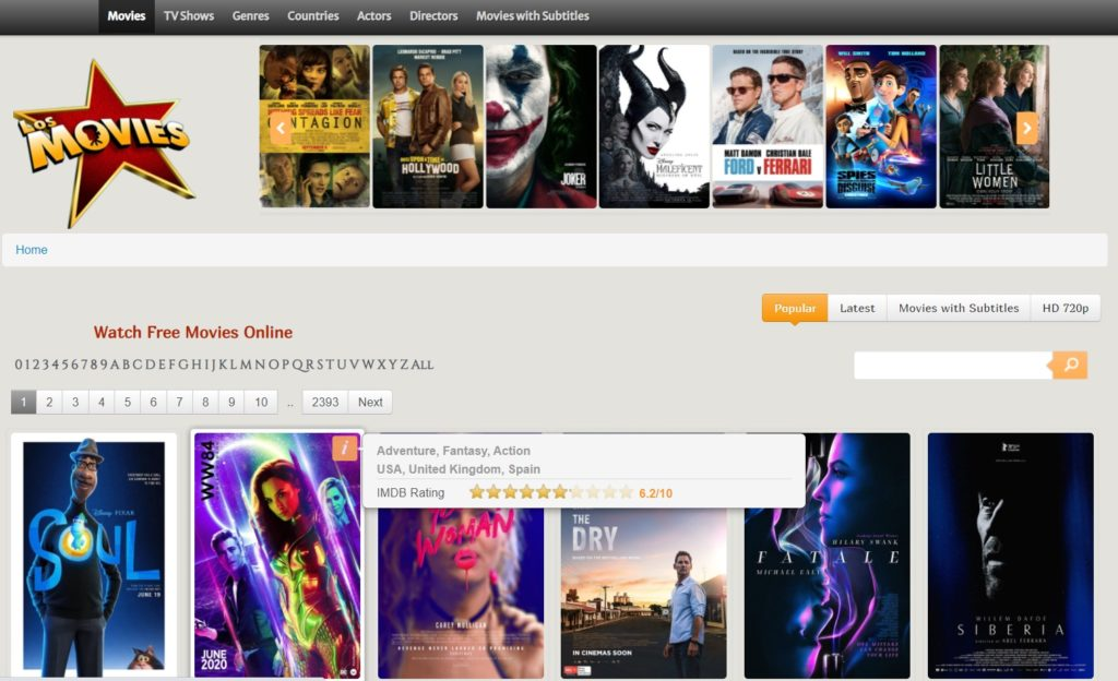 LosMovies - Free Movie Streaming Sites with No Sign-Up