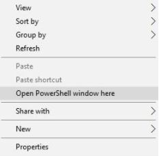 Opening PowerShell On PC