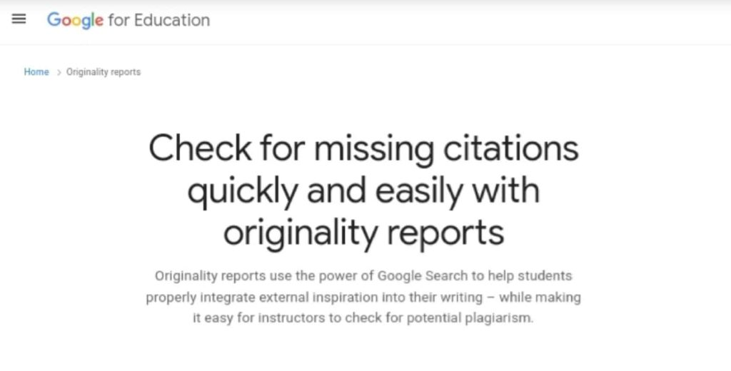 Google Improves Originality Reports in Google Classroom and Assignments to Better Detect Potential Plagiarism