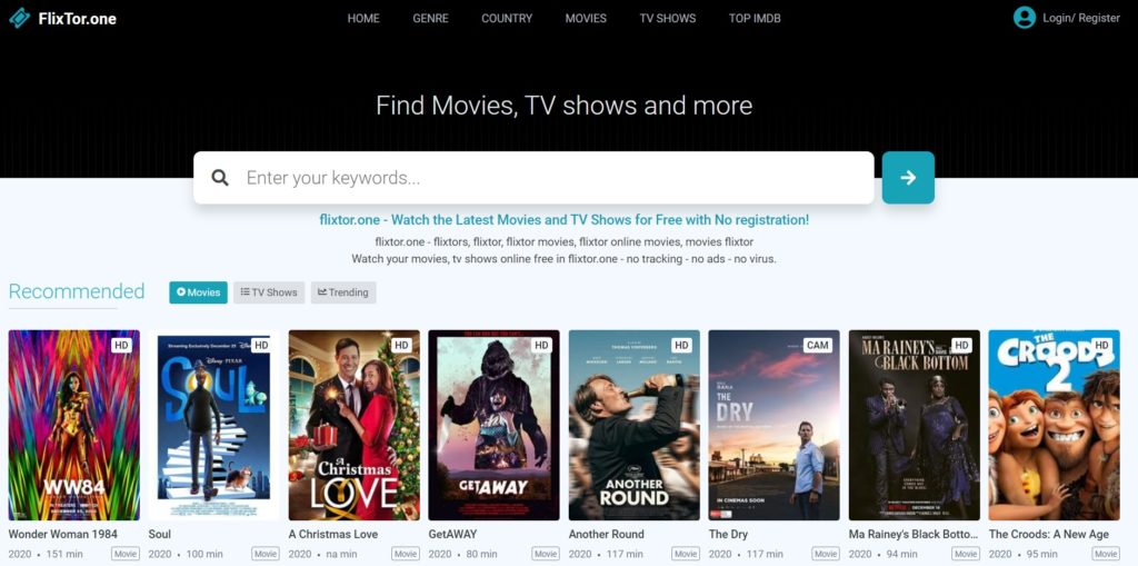 Watch free online movies with Flixtor