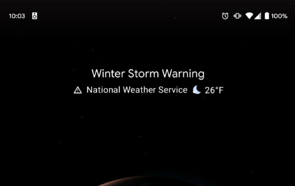 Pixel Launcher to display weather alerts