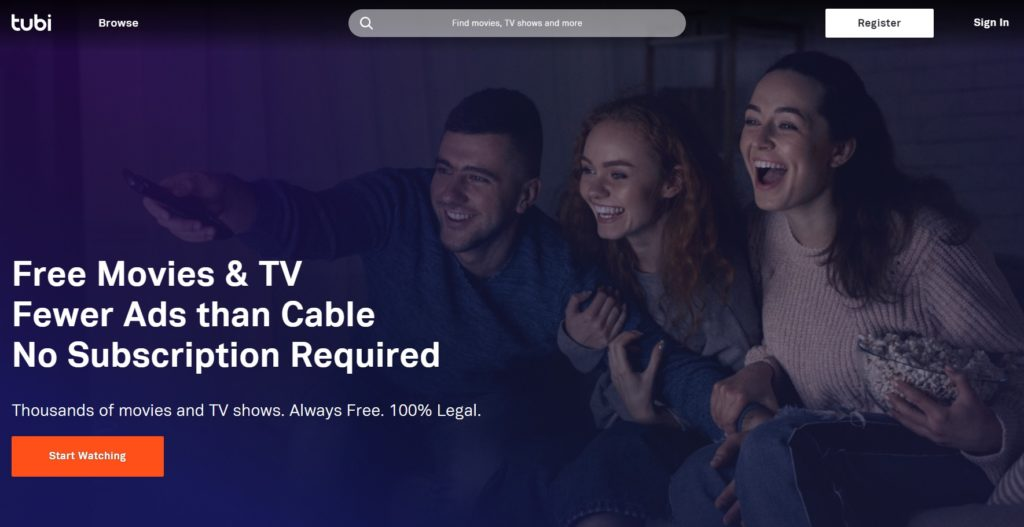 Watch free movies online on Tubi TV - Free Movie Streaming Sites with No Sign-Up