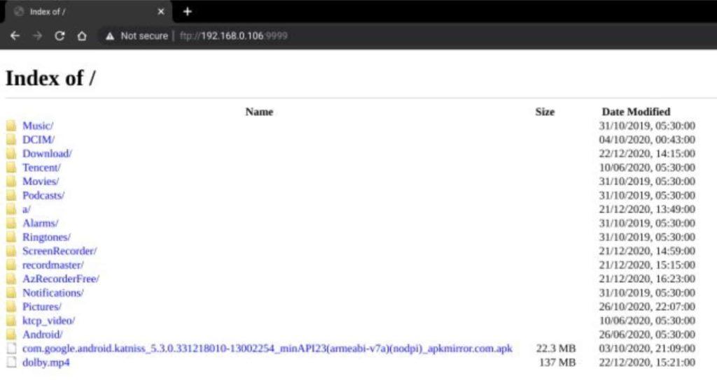 FTP access on Chrome
