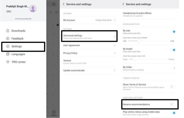 MI Music - How To Disable Ads from MIUI on Xiaomi Devices