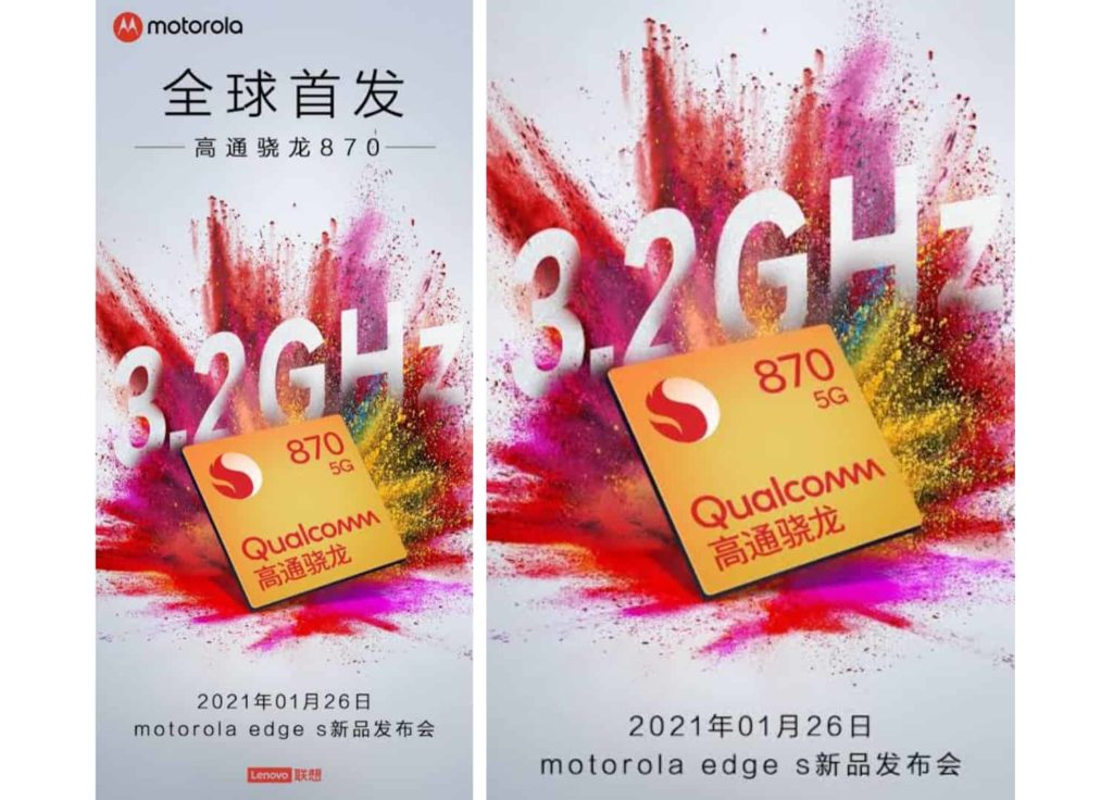 Motorola Edge S Set for Launch on January 26: Will Feature Snapdragon 870 SoC