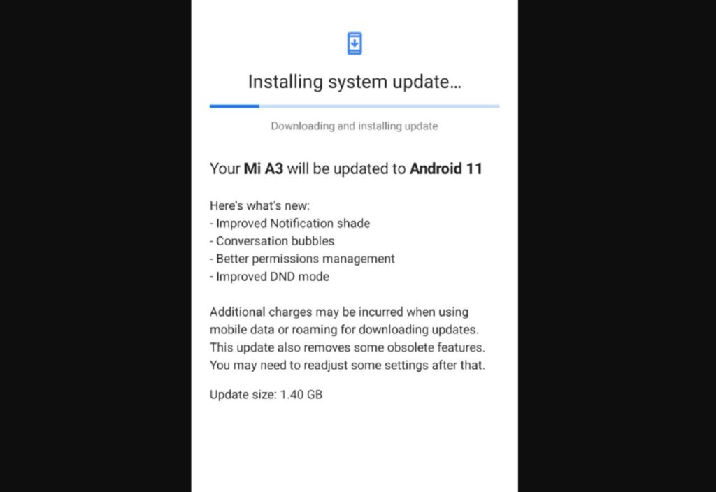 Xiaomi Mi A3 receives Android 11 update