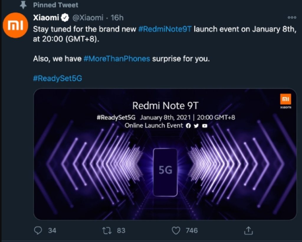 leaked Redmi Note 9T details