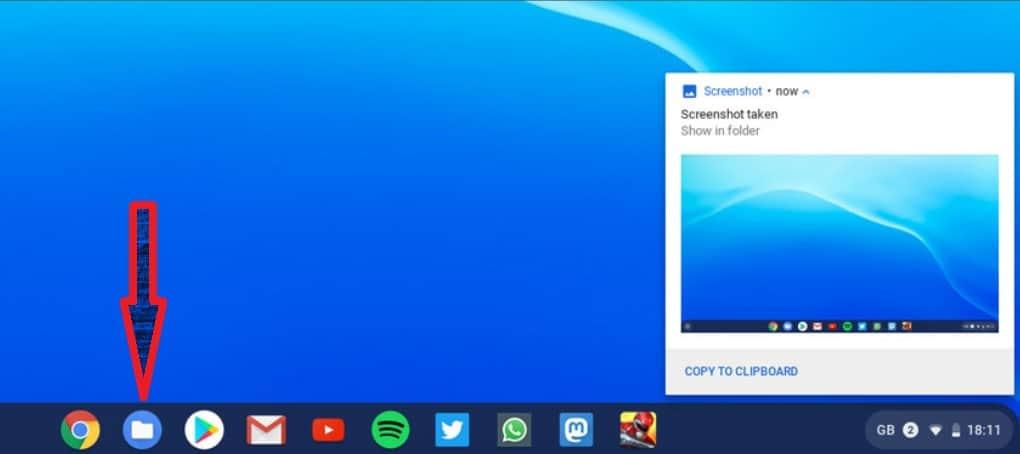 screenshot open - chromebook